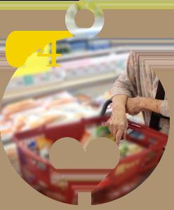 買い物は月1回近隣スーパーへ移動スーパーが週2回来所
